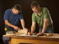 Jim and Tom hand crafting traditional urns